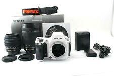 PENTAX K-30 Digital SLR Camera White w/18-55mm 55-300mm (4792 shot) From Japan #