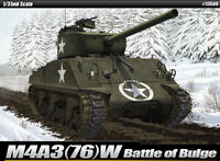 1/35 M4A3(76)W Battle of Bulge Academy Hobby kits #13500