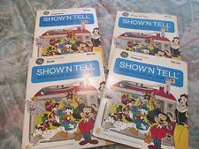 Lot of 4 GE WD Show'N Tell Picturesound Program Records & Film Strips 1969