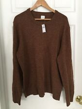 Long Sleeve Men's Crewneck Sweater GAP Xl Rust Brown NWT Merino wool $59