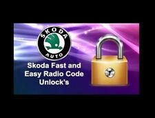 SKODA RADIO CODE UNLOCK ALL MODELS!! RNS510 RNS RCD BOLERO COLUMBUS ETC..