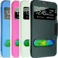 FOR SAMSUNG GALAXY S5 MINI LEATHER CASE COVER WALLET FLIP BACK POUCH G800F G800
