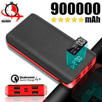 900000mAh Power Bank 4USB Portable External Battery Backup Charger Fast Charging