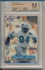 1991 Pro Set Football Herman Moore (Rookie Card) (#739) BGS9.5 BGS