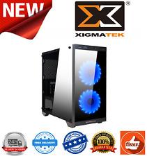 Xigmatek Scorpio Micro ATX Case Black Tempered Glass Front Acrylic Side Panel