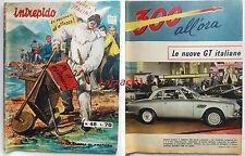 Rivista a Fumetti INTREPIDO 48 Universo 1965 - 300 All'ora ASA 1000 GT Spyder