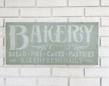 Baked Fresh Daily, Bakery Sign, Kitchen Wall Art, Farmhouse Style, Rustic Wood