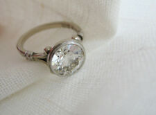 7 MM New 1.25 Ct White Moissanite Diamond Art Deco Engagement Ring 925 Silver