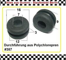 2x Gummitülle Kabeldurchführung Kabelschutz Gummiformteil Durchführung 3815.10