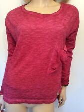 Twisted Muse Sz Small 10 12 14 Fuchsia Oversized TOP 'Florence' Long Sleeved