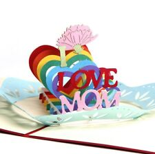 3D Pop Up Card Mother's day I Love Mom Gift New Hot Heart Greeting Cards