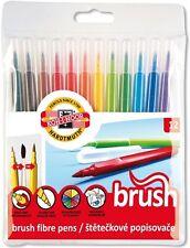 KOH-I-NOOR 12 Brush Pen Faserstifte Set mit Pinselspitze 1-3mm für Manga Anime