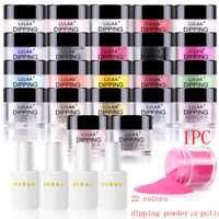 Natural Dry Nail Polish Chrome Pigment Dipping Dust Powder Basis Polish Nail Gel