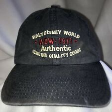 Walt Disney World Wdw 1971 Mickey Mouse Navy Ball Cap Adj Strap Metal Buckle