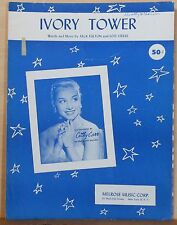 Ivory Tower - 1956 sheet music - Cathy Carr photo on cover