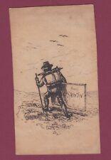260818 - Dessin original à la plume - Henri SAINTIN - Doyen des peintres
