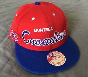 Montreal Canadiens Mitchell and Ness Vintage NHL Adjustable Cap