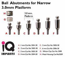 Ball Abutment for Narrow 3.0mm Platform Dental Implants Implant Lab Prosthetic
