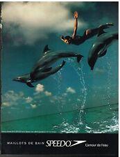 Publicité Advertising 1995 Les maillots de bain Speedo