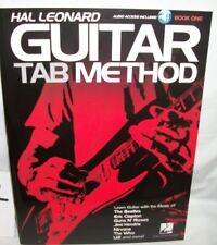 hal leonard guitar tab method book one with audio access guitar method book