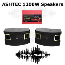 1200W Speakers For Ashtec Powered Mixer Amplifier Guitar Karaoke DJ Instrument