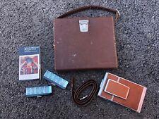 Polaroid SX-70 Land Camera w/ Polaroid Leather Case Strap Manual BEAUTIFUL