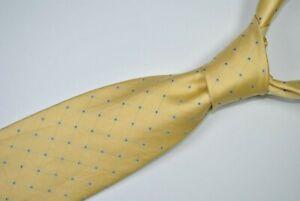BRIONI Dis 18107 Tie MADE IN ITALY 100% Silk Yellow/Blue Color L62 W3.3