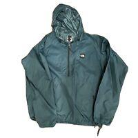 Vintage North Face half zip Pine Green Pullover windbreaker size XL