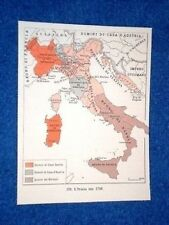 Cartina L'Italia nel 1748