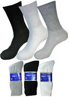 3-12 Pairs Diabetic Crew Circulatory Socks Health Mens Cotton 9-11 10-13 13-15