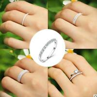 Eternity Stainless Steel Ring Silver Color Single Row small CZ Women Super