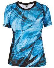 Camiseta de deporte de mujer multicolor de poliéster