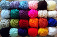 Mixed Job Lot 24 balls 7-10g Craft Balls Acrylic Double Knitting Wool Woolyhippo