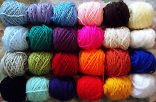 Mixed Job Lot 24 Boules 7-10 G Craft Boules Acrylique Double Laine à Tricoter woolyhippo