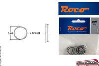 ROCO 40077 - H0 1:87 - Set 10 anelli aderenza ricambio gommini ruote da 17,5/20,