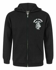 Sons Of Anarchy Classic Logo oficial hombre nuevo Negro Pullover Capucha