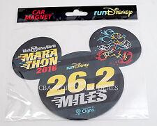 NEW Run Disney 2016 WDW Marathon 26.2 Miles Mickey Mouse Ears Car Magnet