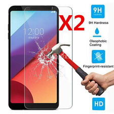 2Pcs Thin 9H+ Premium Tempered Glass Screen Protector Film for LG G6/G6 Plus FR
