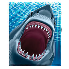 Great White Shark Fleece Throw Blanket