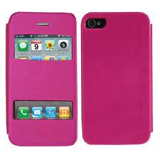 Accessoire Housse Etui Coque Plastique View Case ROSE pour Apple iPhone 4/4S