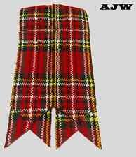 Men's Kilt Sock Flashes Royal Stewart Tartan/Royal Stewart Tartan Kilt Flashes