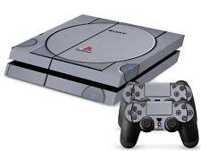 SONY PS4 PlayStation 4 SKIN Design Adesivo Pellicola Protettiva Set - retrò