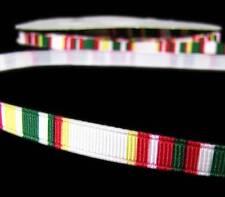 """5 Yds Christmas Red White Dark Green Grosgrain Ribbon 3/8""""W"""