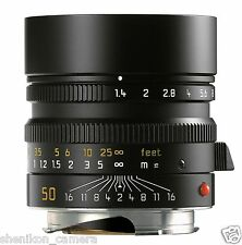 100% New Unused Leica SUMMILUX-M 50mm F1.4 f/1.4 ASPH. 6-Bit Black M10 240 11891