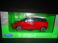 WELLY FIAT 500L 2013 rouge 1/24