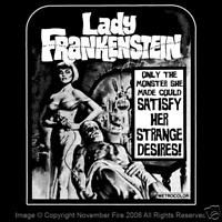 Lady Frankenstein MST3K Creature Feature Monster Kid Campy Drive In Shirt NFT328