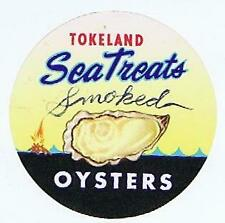 SEA TRADE Brand ORIGINAL OYSTERS CAN LABEL Safeway Stores 1973 Oakland CA