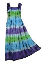 Tie Dye Long Boho Maxi Dress Sleeveless Party Evening Size 14 16 18 20 22 24 SEP