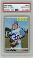 1970 DODGERS Don Sutton signed card Topps #622 PSA/DNA Slab AUTO HOFer