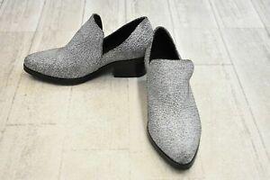 Shellys London Johnna Booties - Women's Size 6 - White Black Crackle